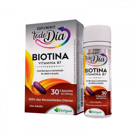 Vitamina B7 Biotina - 30 Cápsulas - Katiguá STD