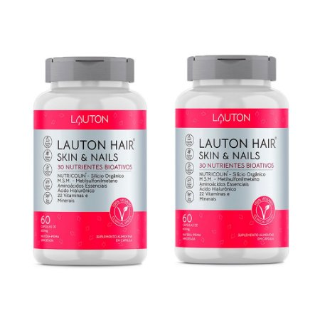 Kit Hair Skin & Nails Lauton Cabelos e Unhas 120 Cáps