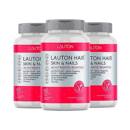Hair Skin & Nails - 3 unidades de 60 Cápsulas - Lauton