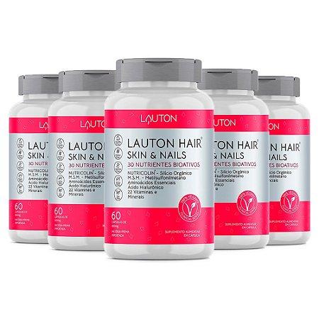 Kit Hair Skin & Nails Lauton Cabelos e Unhas 300 Cáps