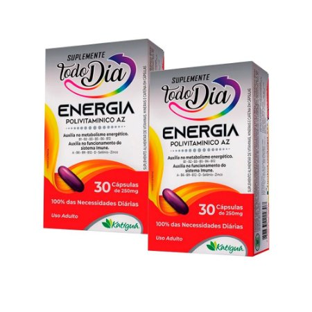 Polivitamínico A-Z Energia - 2 unidades de 30 Cápsulas - Katiguá