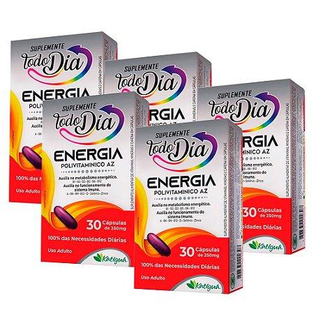 Polivitamínico A-Z Energia - 5 unidades de 30 Cápsulas - Katiguá
