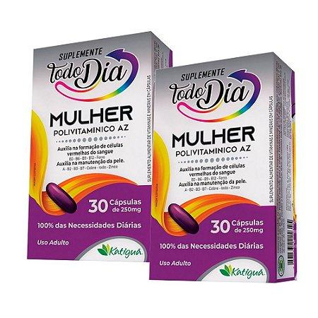 KitPolivitamínico A-Z Mulher Katiguá STD Suplemento 60 Cáps