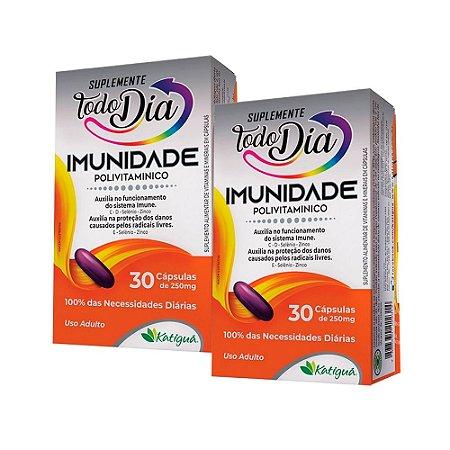 Polivitamínico Imunidade - 2 unidades de 30 Cápsulas - Katiguá