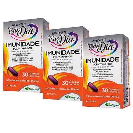 Polivitamínico Imunidade - 3 unidades de 30 Cápsulas - Katiguá