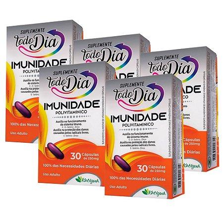 Polivitamínico Imunidade - 5 unidades de 30 Cápsulas - Katiguá
