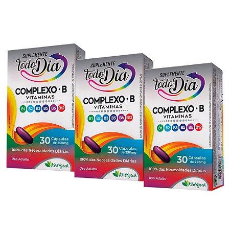 Vitaminas do Complexo B - 3 unidades de 30 Cápsulas - Katiguá