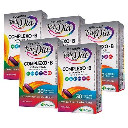 Vitaminas do Complexo B - 5 unidades de 30 Cápsulas - Katiguá