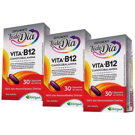 KitVitamina B12 Cianocobalamina Katiguá STD 90 Cápsulas