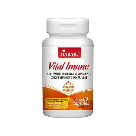 Vital Imune Vitaminas C, D e Zinco - 60 Cápsulas - Tiaraju