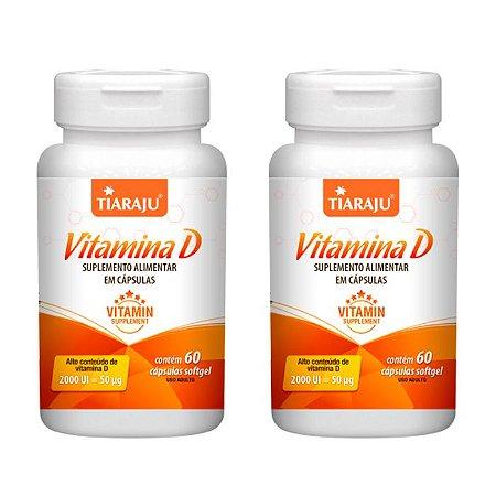 Vitamina D 2000 UI - 2 unidades de 60 Cápsulas - Tiaraju