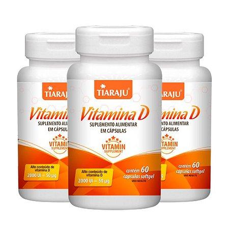 KitVitamina D 2000 UI Tiaraju Vitamina do Sol 180 Cápsulas