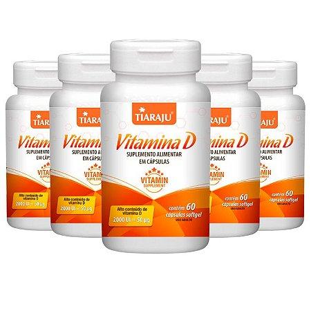 KitVitamina D 2000 UI Tiaraju Vitamina do Sol 300 Cápsulas