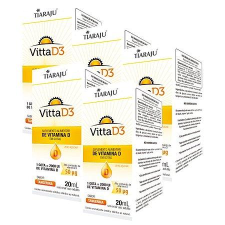 Vitamina D3 em Gotas 2000 UI Tangerina - 5 unidades de 20 ml - Tiaraju