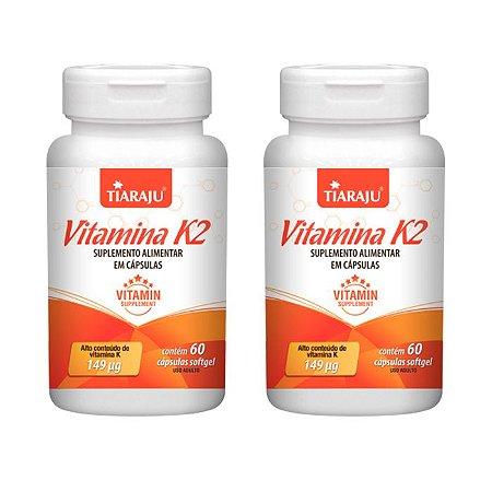Vitamina K2 Menaquinona - 2 unidades de 60 Cápsulas - Tiaraju