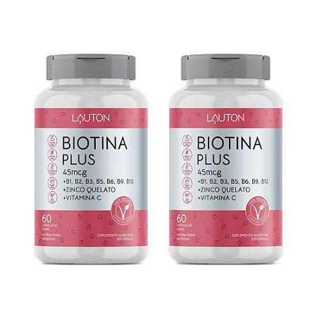 Kit Biotina Plus Vitamina b7 Lauton 120 Cápsulas