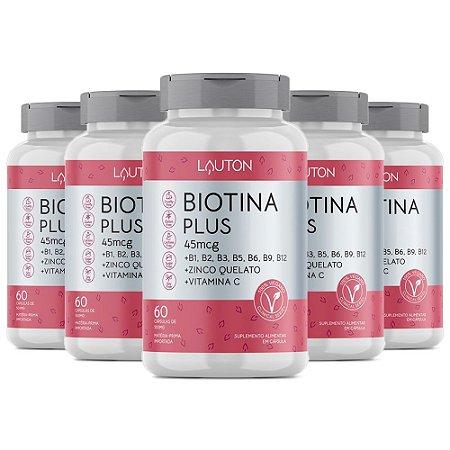 Biotina Plus - 5 unidades de 60 Cápsulas - Lauton
