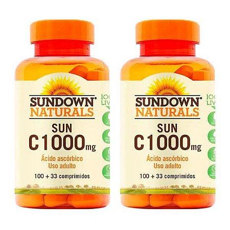 KitVitamina C 1000mg Sundown Ácido Ascórbico 200 Comp