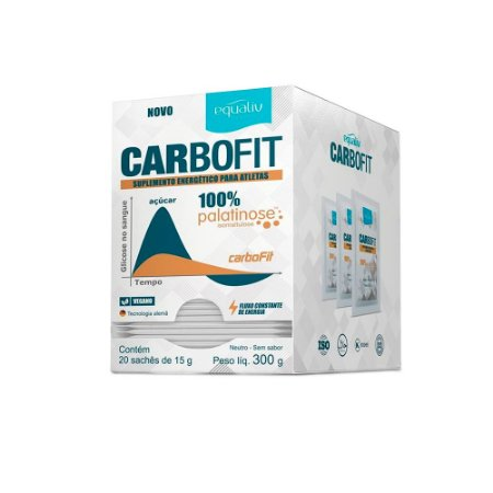 Carbofit 100% Palatinose - 20 Sachês de 15g - Equaliv