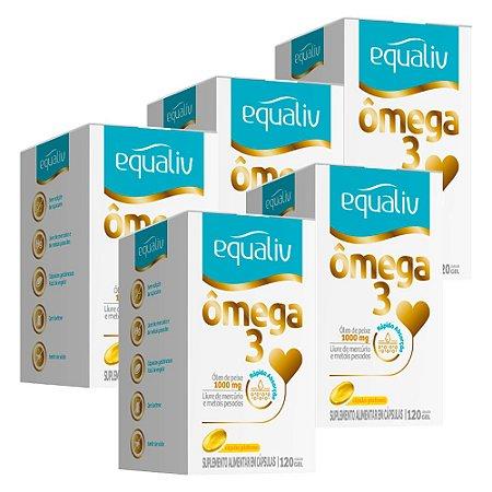 Ômega 3 - 5 unidades de 120 Cápsulas - Equaliv