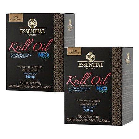 Krill Oil Ômega 3 e Astaxantina - 2 unidades de 60 Cápsulas - Essential