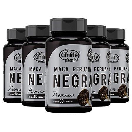 Maca Peruana Negra Premium - 5 unidades de 60 Cápsulas - Unilife