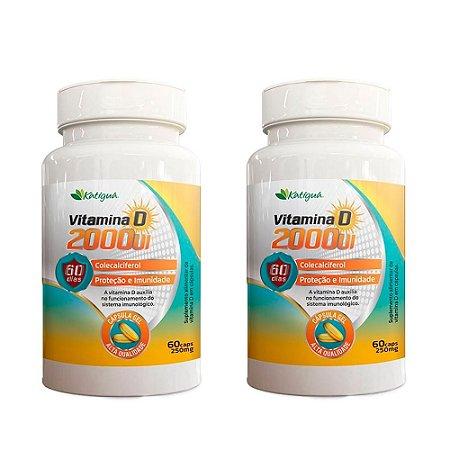 Vitamina D 2000 UI - 2 unidades de 60 Cápsulas - Katigua