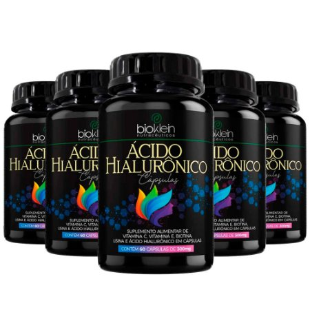 Kit Ácido Hialurônico Bioklein 300mg Vitamina C 300 Cápsulas