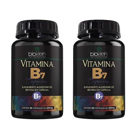 Vitamina B7 Biotina - 2 unidades de 60 Cápsulas - Bioklein