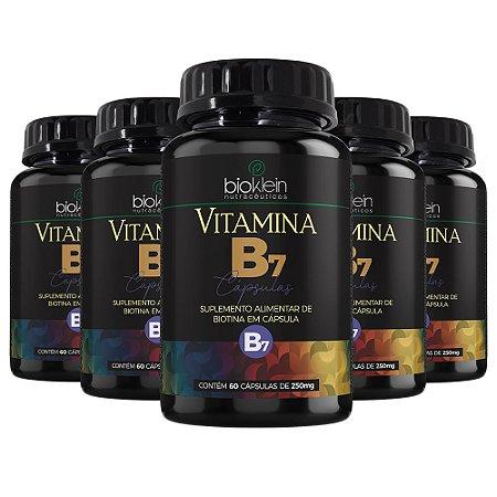 Vitamina B7 Biotina - 5 unidades de 60 Cápsulas - Bioklein