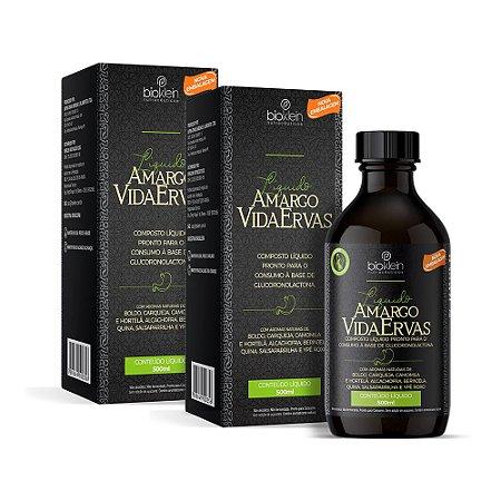 Kit Amargo Vida Ervas Composto Líquido Bioklein 2 Uni. 500ml