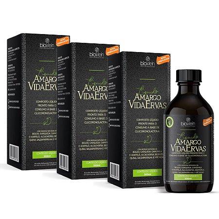 Kit Amargo Vida Ervas Composto Líquido Bioklein 3 Uni. 500ml