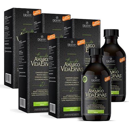 Kit Amargo Vida Ervas Composto Líquido Bioklein 5 Uni. 500ml
