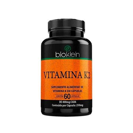Vitamina K2 400mg Bioklein Menaquinona 7 60 Cápsulas