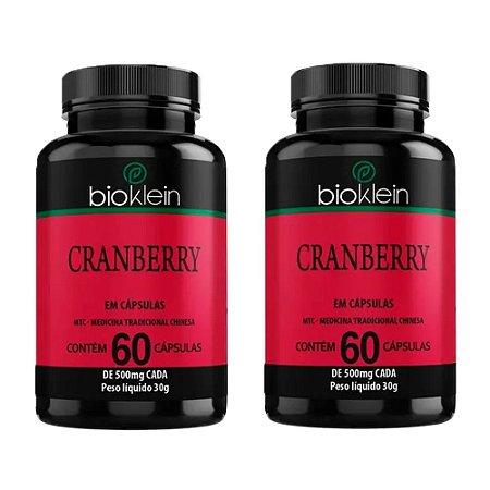 Kit Cranberry Bioklein Oxicoco Suplemento Sem Sabor 120 Cáps