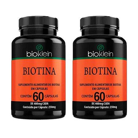Biotina - 2 unidades de 60 Cápsulas - Bioklein