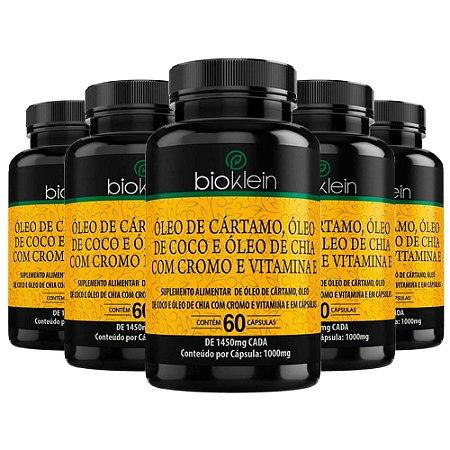Óleo de Cártamo + Coco + Chia - 5 unidades de 60 Cápsulas - Bioklein