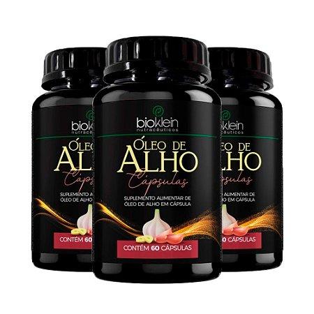 Óleo de Alho - 3 unidades de 60 Cápsulas - Bioklein