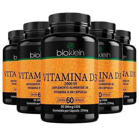 KitVitamina D3 2000 UI Bioklein Colecalciferol 300 Cápsulas