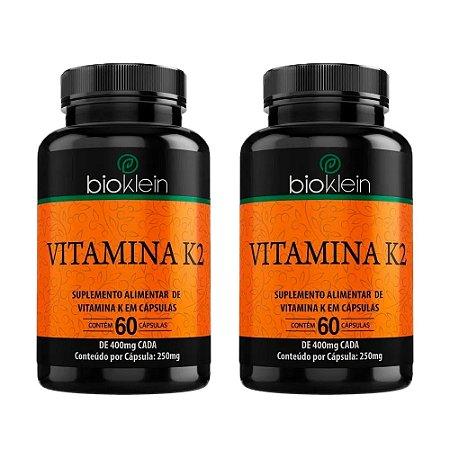KitVitamina K2 400mg Bioklein Menaquinona 7 120 Cápsulas