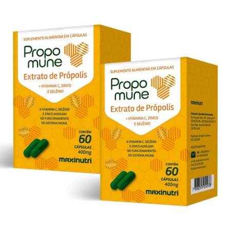 KitPropomune Extrato De Própolis Maxinutri 120 Cápsulas