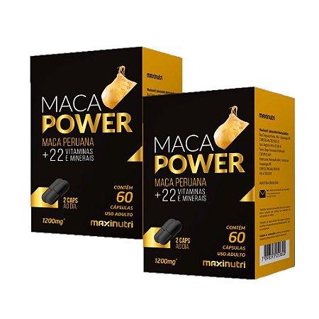 Kit Maca Peruana Power Maxinutri Estimulante Sexual 120 Cáps