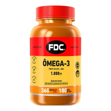 Ômega 3 1000mg - 360 Cápsulas - FDC