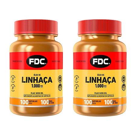 Óleo de Linhaça - 2 unidades de 100 Cápsulas - FDC