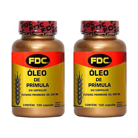 Óleo de Prímula - 2 unidades de 120 Cápsulas - FDC