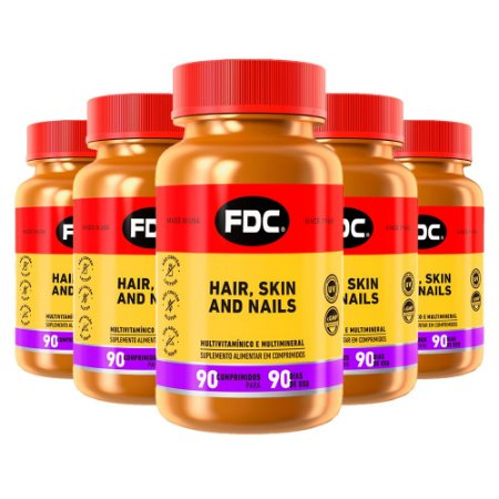 Kit Hair Skin And Nails FDC Vitaminas 450 Comprimidos