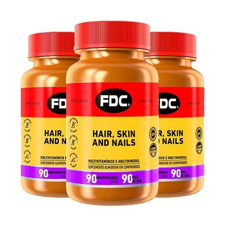 Hair Skin and Nails - 3 unidades de 90 Comprimidos - FDC