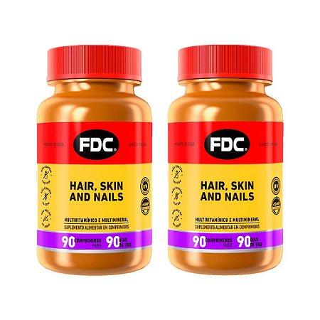 Hair Skin and Nails - 2 unidades de 90 Comprimidos - FDC