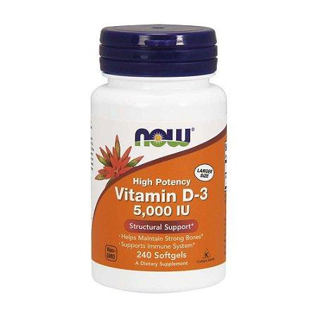 Vitamin D3 5000 UI - 240 Cápsulas - Now Foods