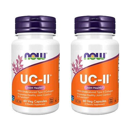 Kit Colágeno UC-II Now Foods Suplemento 120 Cápsulas